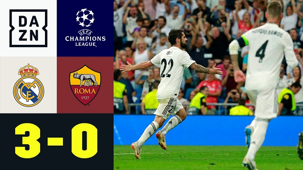 UEFA Champions League: Real Madrid - AS Rom | DAZN Highlights