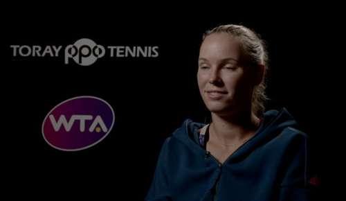 Wozniacki Interview: WTA Tokyo QF