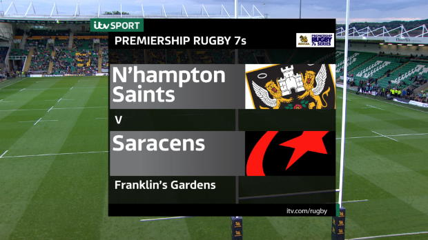 Aviva Premiership - Match Highlights - Northampton Saints 7s v Saracens 7s