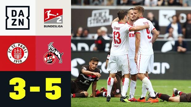 2. Bundesliga: FC St. Pauli - 1. FC Köln | DAZN Highlights