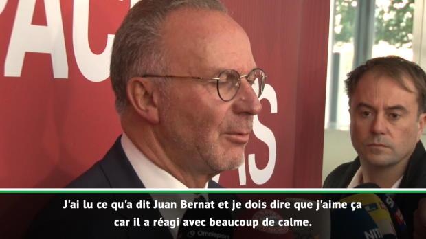 Bayern - Rummenigge a apprécié la réaction de Bernat