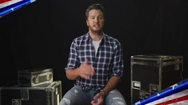 Country music sensation Luke Bryan thanks the U.S. military