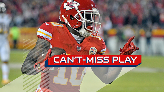Can't-Miss Play: Tyreek Hill explodes past the defense for lightning-fast 64-yard touchdown