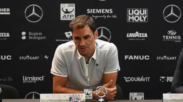Stuttgart: Federer analysiert Djokovic-Krise