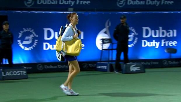 تنس: بطولة دبي: بيليس تفاجئ رادفانسكا  6-4، 2-6 و6-2
