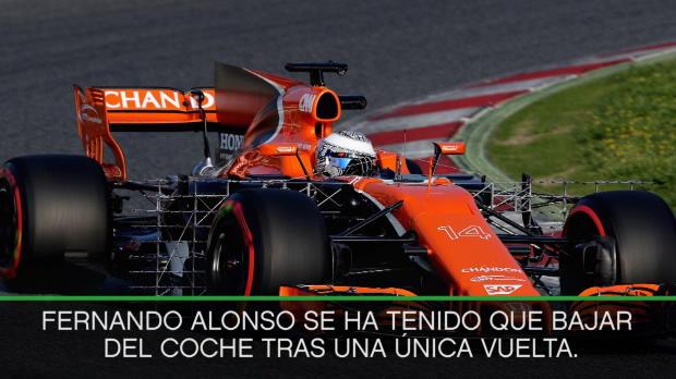 F1 - El McLaren deja tirado a Fernando Alonso