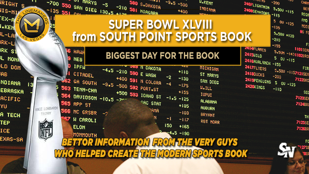 Super Bowl from the South Point Sports Book
