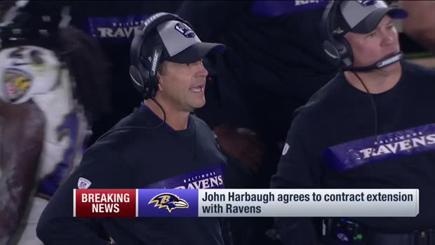 Baltimore Ravens head coach John Harbaugh agrees to contract extension with Ravens