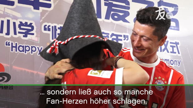 Lewandowski als Fan-Herzensbrecher in Shanghai