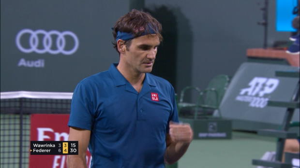 : Indian Wells - Federer trop fort pour Wawrinka