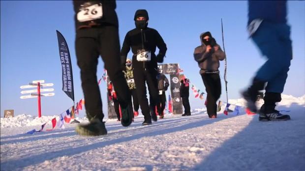 Las mejores imágenes de la maratón del Polo Norte