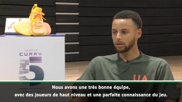 """Basket : NBA - Curry - """"Beaucoup d'équipes veulent nous faire tomber"""""""