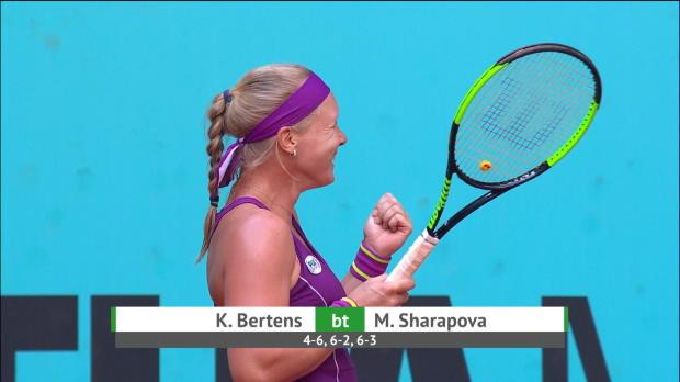 Basket : Madrid - Sharapova cède contre Bertens