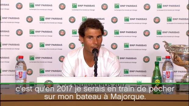 : Roland-Garros - Nadal - 'Je m'imaginais pêcher sur mon bateau'