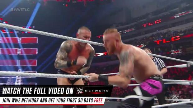 Heath Slater fights to survive against Bray Wyatt & Randy Orton: WWE TLC 2016