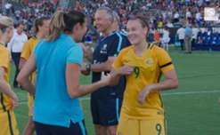 Go behind the scenes after the Westfield Matildas beat Brazil at the Tournament of Nations in the USA.