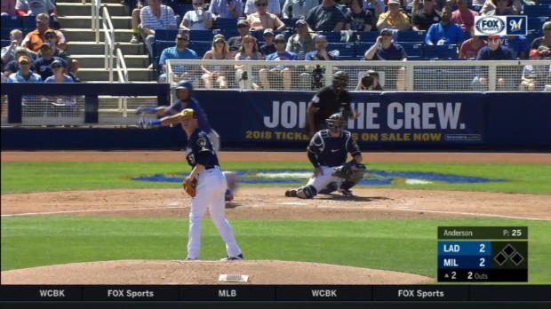 Rios homers over batter's eye