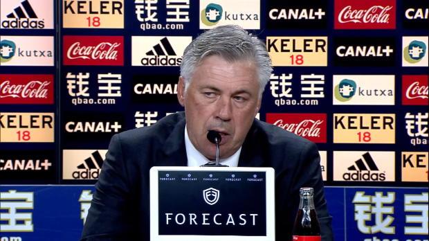 Après avoir mené 0-2, le Real Madrid s'est finalement incliné 4-2 sur la pelouse de la Real Sociedad. Forcément, Carlo Ancelotti n'était pas ravi par la performance de ses joueurs dimanche soir...