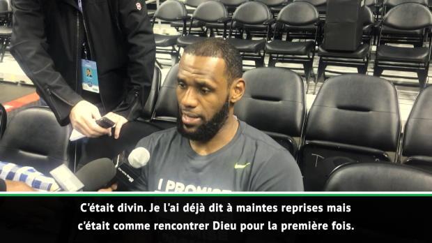 """Basket : NBA - James sur son échange avec Jordan - """"Comme rencontrer Dieu pour la première fois"""""""