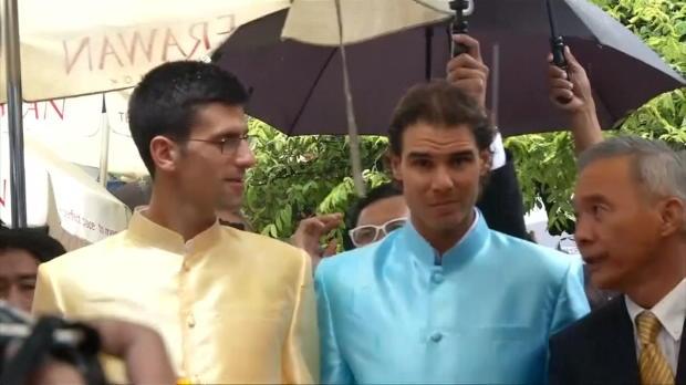 Nadal y Djokovic visitan la zona del atentado en Bangkok