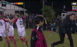 Oriol Riera completed a brace to bring the Wanderers level with Blacktown City in the FFA Cup Quarter Finals.