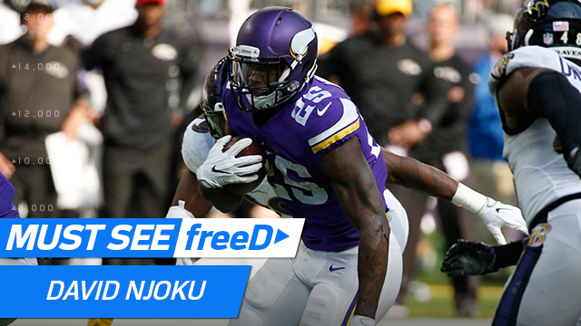 freeD: 360-degree view of Latavius Murray's epic stiff arm | Week 7