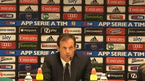 La Juventus de Massimiliano Allegri est allé s'imposer 1-0 à San Siro contre le Milan AC grâce à but de Tévez, servi par Pogba. L'ancien entraineur des Rossoneri explique que son équipe voulait
