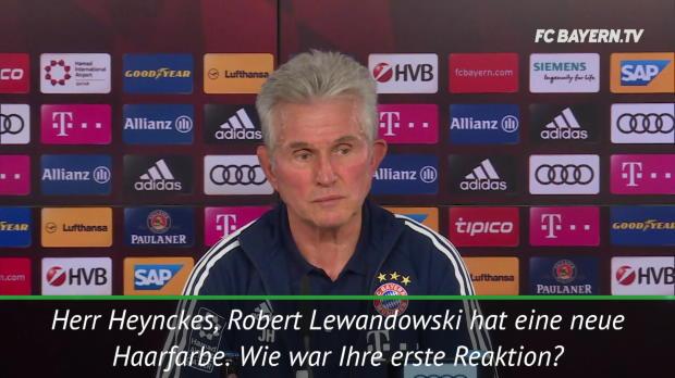 """Heynckes scherzt: """"Komme mit roten Haaren"""""""