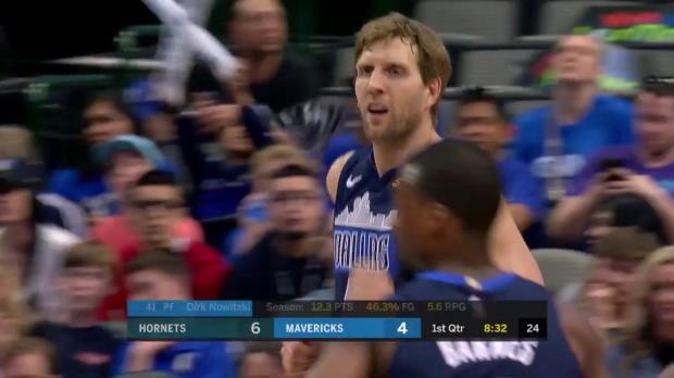 WSC: Dirk Nowitzki (4 points) Highlights vs. Charlotte Hornets, 03/24/2018
