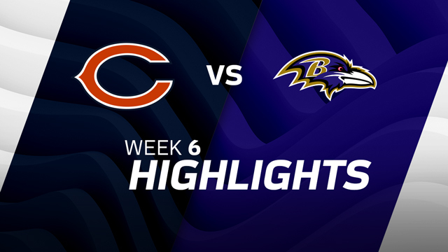Chicago Bears vs. Baltimore Ravens highlights | Week 6