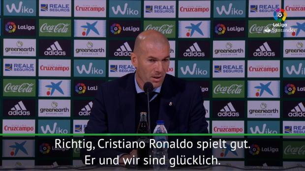 """Zidane: Ronaldo gut drauf: """"Wir sind glücklich"""""""