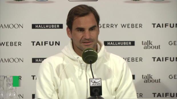 Halle: Federer Fan von deutscher Autobahn