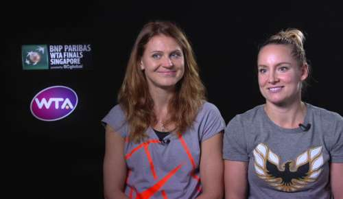 Mattek-Sands & Safarova Interview: WTA Singapore SF