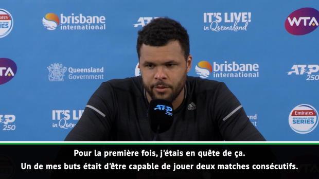 """Basket : Brisbane - Tsonga - """"Mon nouveau but est de gagner trois matches consécutifs"""""""