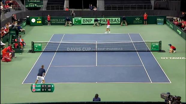Davis Cup: Kanada - Großbritannien, Tag 3