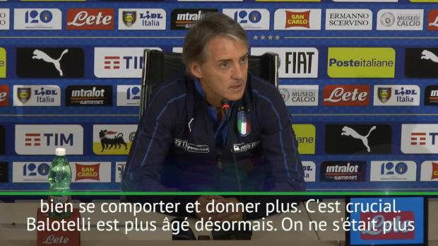 Italie - Mancini - 'Balotelli est particulier mais je lui fais confiance'