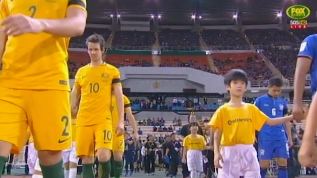 Socceroos share spoils with Thailand