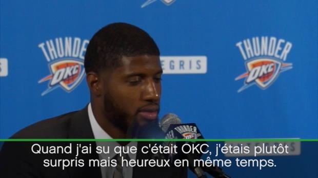 """Basket : OKC - George - J'ai beaucoup parlé avec Westbrook"""""""