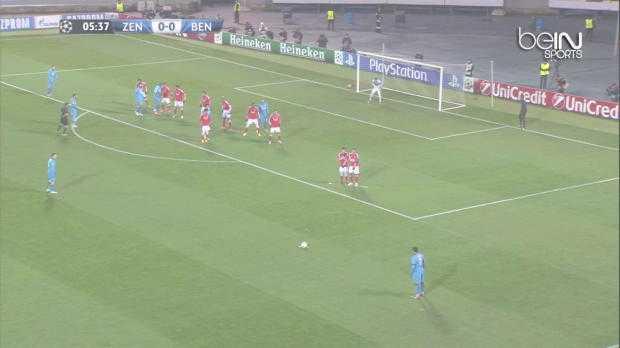 LdC : Zenit 1-0 Benfica