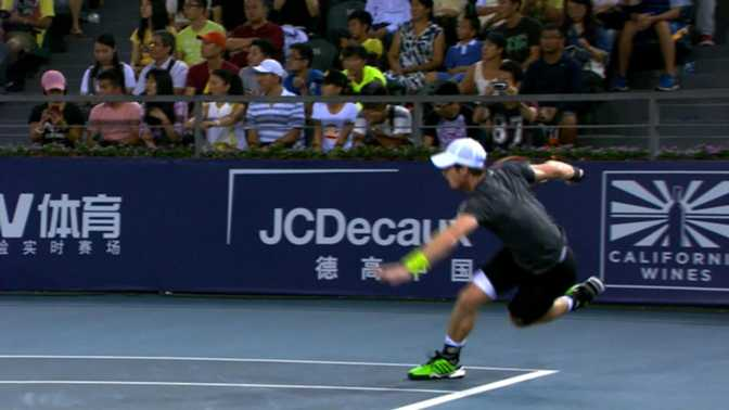 Shenzhen - Une chute terrible pour Andy Murray