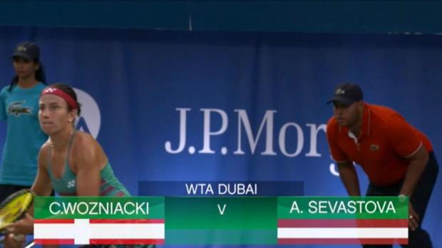 تنس: بطولة دبي: فوزنياكي تهزم سيفاستوفا 6-3 و6-4