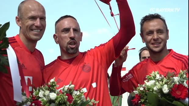 """Rafinha, Robben und Ribery sagen """"Servus Säbener"""""""