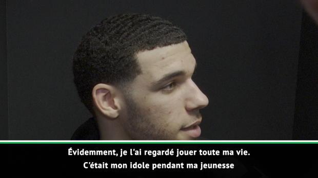"""Basket : NBA - Ball sur LeBron James - """"Un rêve devenu réalité de jouer avec mon idole"""""""
