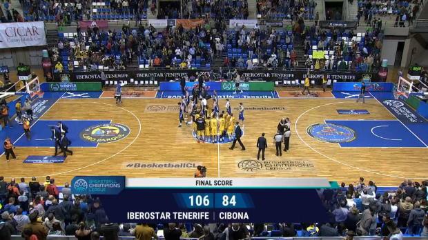 Champions League: Iberostar Tenerife 106-84 Cibona