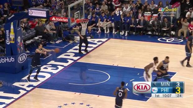 WSC: Ben Simmons Posts 15 points, 13 assists & 12 rebounds vs. Minnesota Timberwolves, 03/24/2018