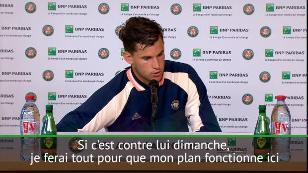 : Roland-Garros - Thiem - 'J'ai mon plan contre Nadal'
