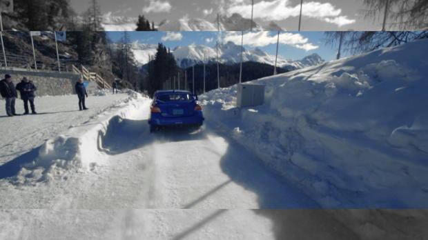 El Subaru de hielo