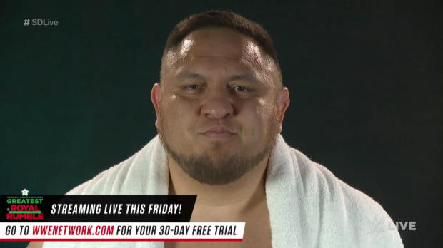 Samoa Joe promises victory at the Greatest Royal Rumble event and WWE Backlash: SmackDown LIVE, April 24, 2018