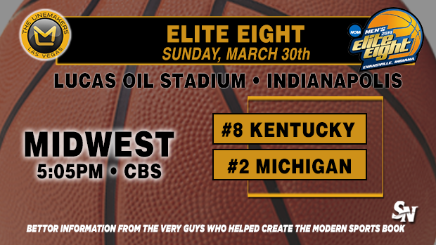 Elite Eight:  Kentucky vs. Michigan