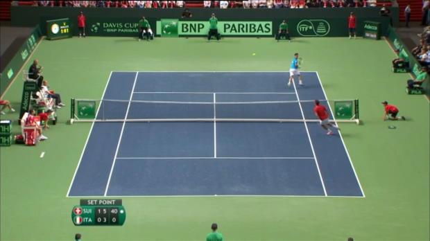 Copa Davis - Suiza y Francia, a la final